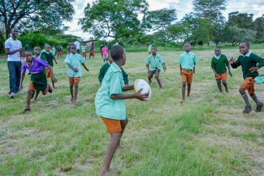 Shamas Rugby Clinic at Tatu Primary School