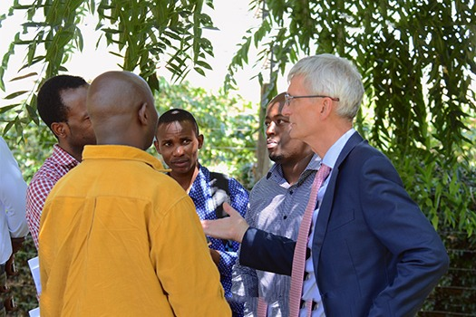 Nick Langford Kenya Country Head Rendeavour interacts with journalists during a media tour of Tatu City