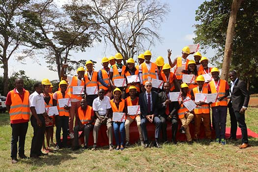 Students graduate with certificates in Masonry courtesy of Tatu City Training Academy